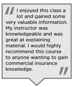 Student reviews of the Commercial Lines CSR/Account Manager program.