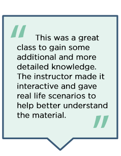 Student reviews of the Small Business Coverage Specialist Program.
