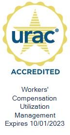 URAC Accredited Workers' Compensation Utilization Management, Expires October 1, 2020