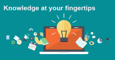 Knowledge at Your Fingertips graphic