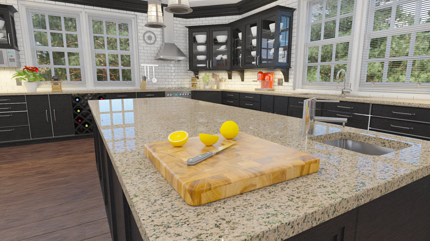 kitchen counter traditional