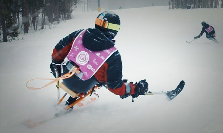 Disabled Sports USA skiier